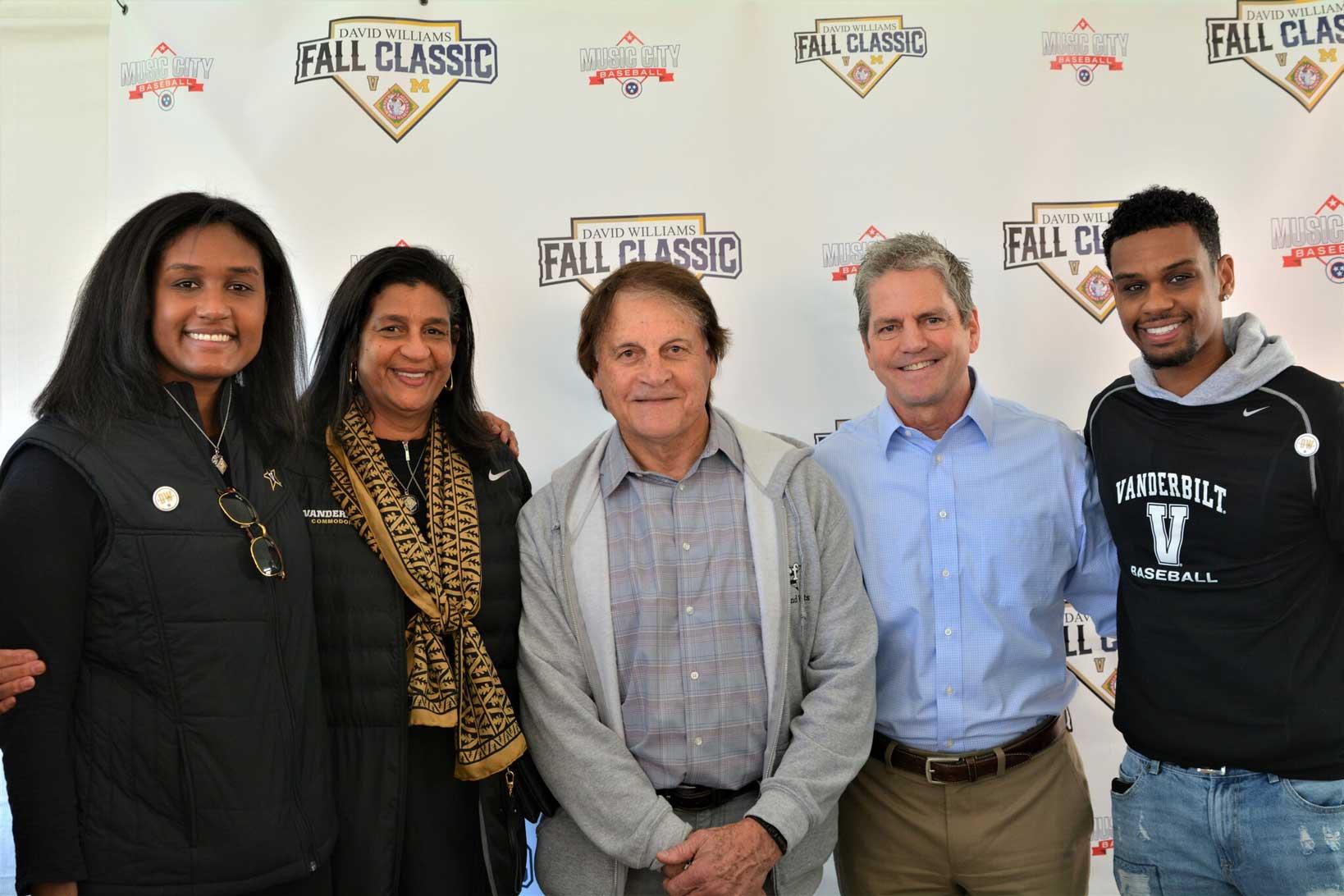 Beloved Family of David Williams with Tony La Russa & John Loar