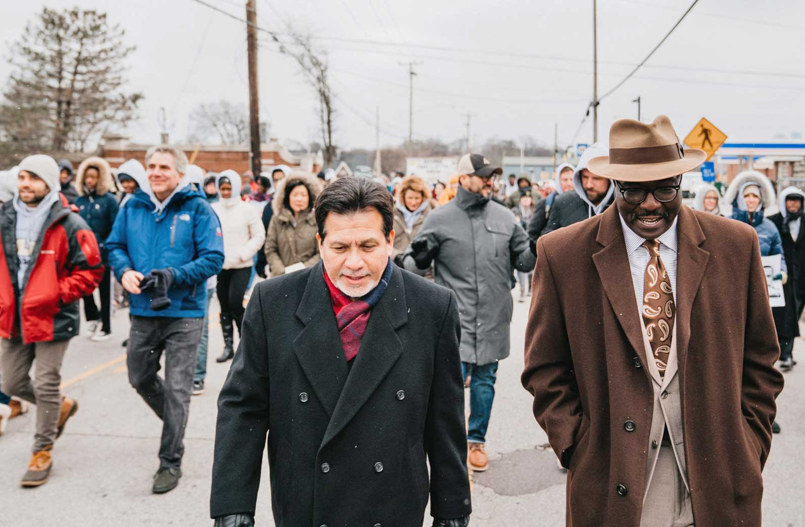 MLK Day March - Alberto Gonzales and Bob Kendrick
