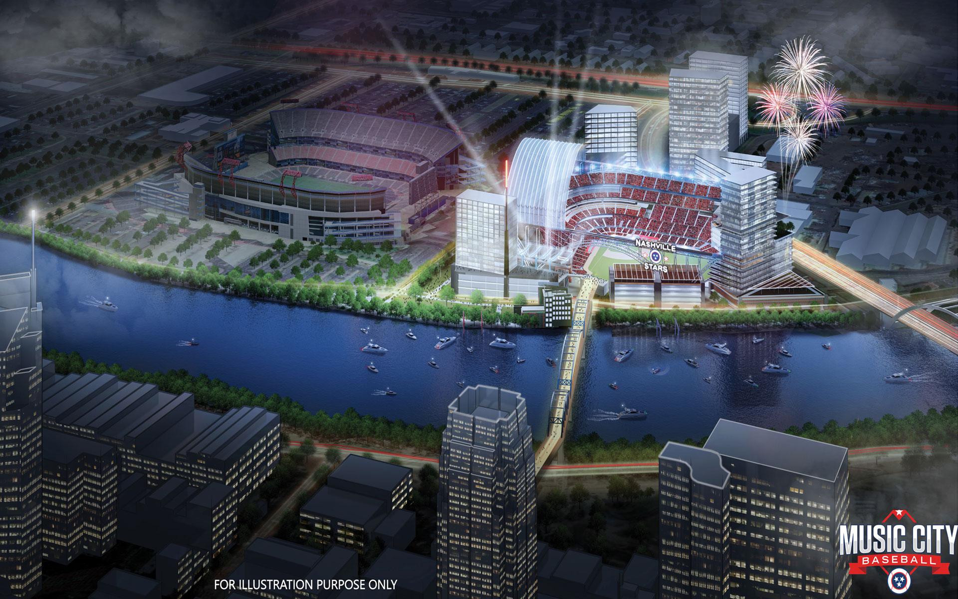 Illustrative Stadium Rendering