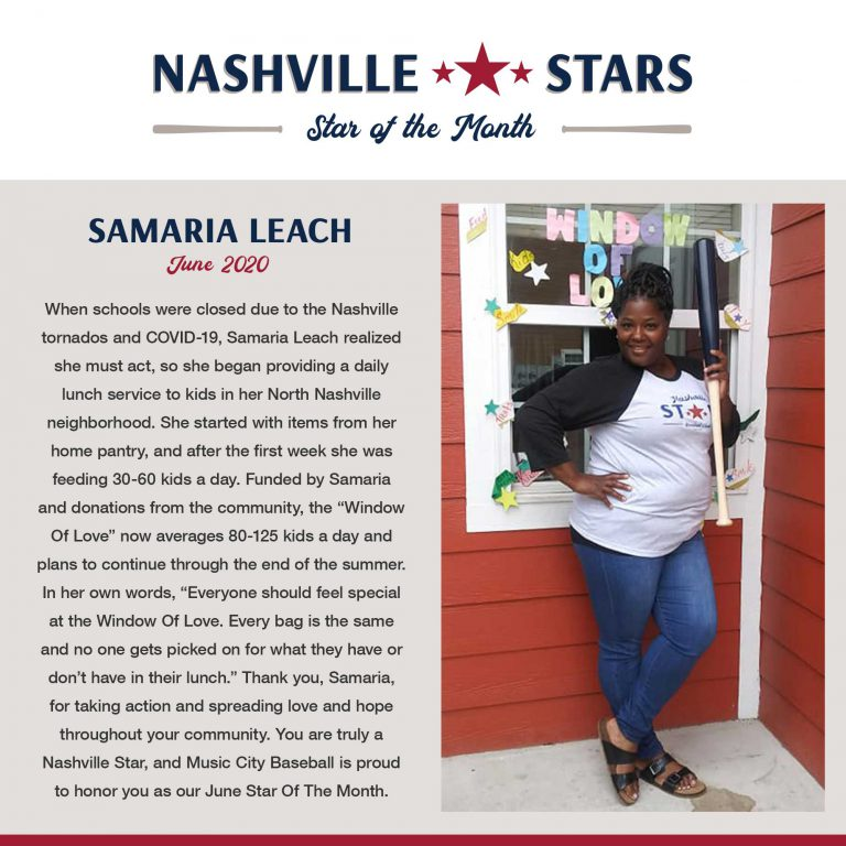 June 2020 Star Of The Month: Samaria Leach