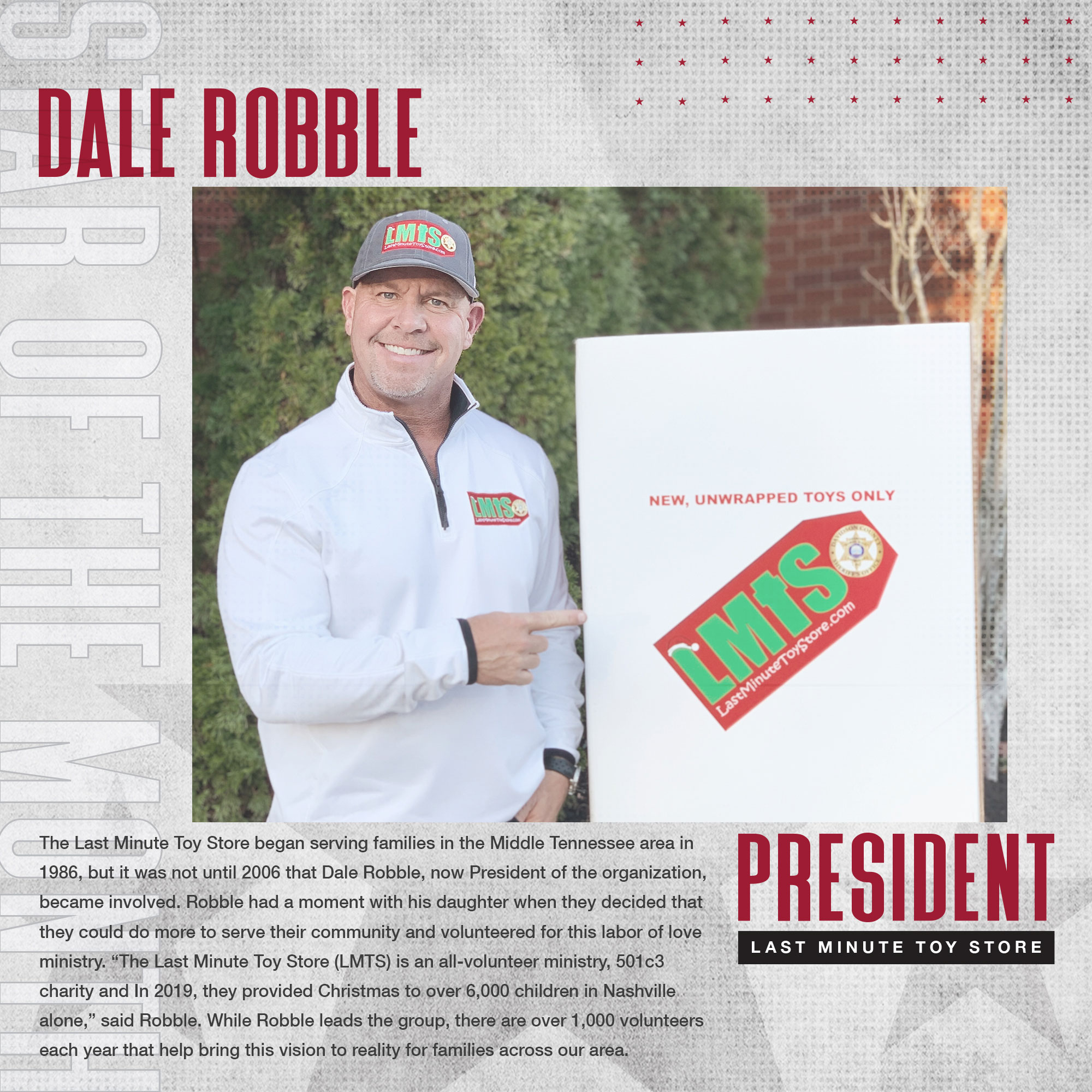 December 2020 Star Of The Month Dale Robble